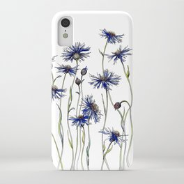 Blue Cornflowers, Illustration iPhone Case
