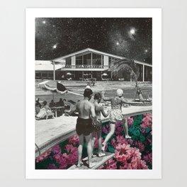 Floral Pool Art Print