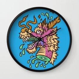 A Dragon's Demise II Wall Clock