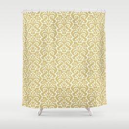 Art Nouveau Pattern Gold Shower Curtain