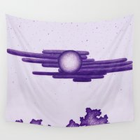 egyptian Wall Tapestries featuring Egyptian Moon by Erica Putis