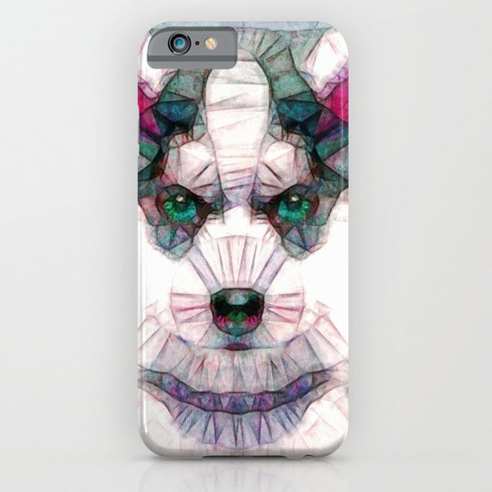 abstract husky puppy iPhone & iPod Case