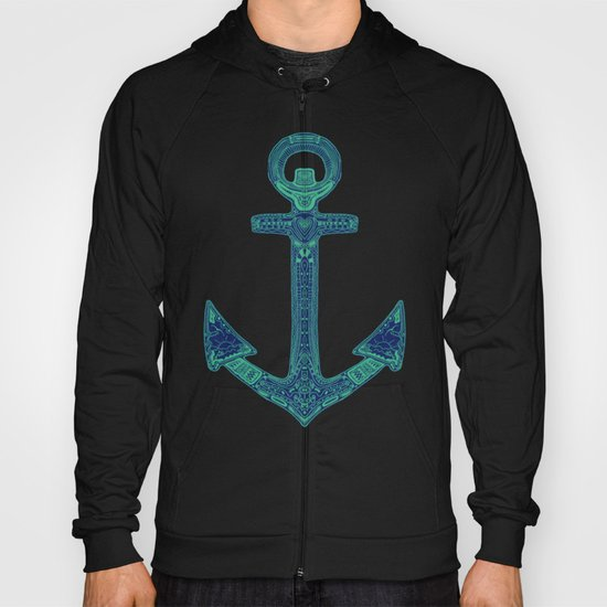 Anchor; ornate anchor Hoody