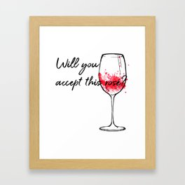 Will You Accept This Rose Charming Proposal Design Framed Art Print