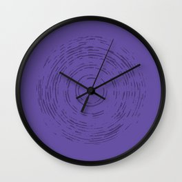 Violet Rainbow Wall Clock
