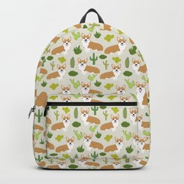 Welsh Corgi cactus southwest desert dog breed corgis gifts Backpack