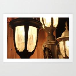 Vintage Lampposts Art Print