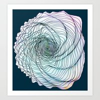 shell Art Prints featuring Shell by Brontosaurus
