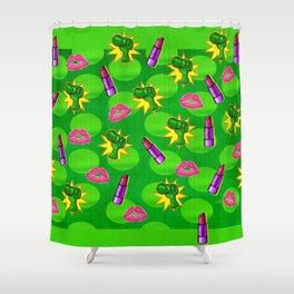 Cosmopolitan Pop Art Mixed Media Shower Curtain