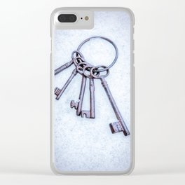 Rusty Keys Clear iPhone Case