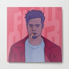 Tyler Durden by FrameIlustrado Metal Print