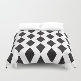 Pattern with black rhombus shapes. Duvet Cover