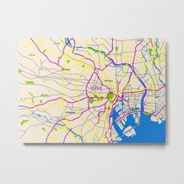 Tokyo Map Design Metal Print