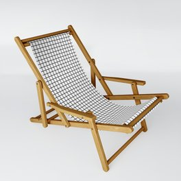 Black and White Grid Graph Sling Chair