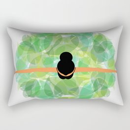 Dancing with nature- Conceptual graphic of a girl dancing with dress made from leaves Rectangular Pillow