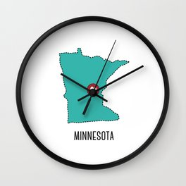 Minnesota State Heart Wall Clock