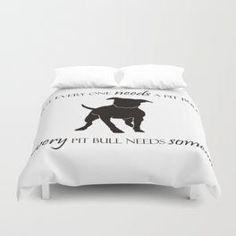 Love is a pit bull No. 8 Duvet Cover
