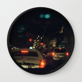 through the windshield Wall Clock