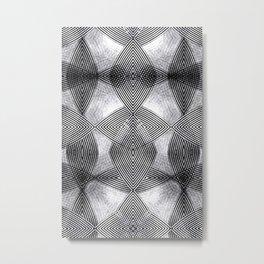 Concentric Trance Overlap- F.Oui! + Quelquefois photography Metal Print