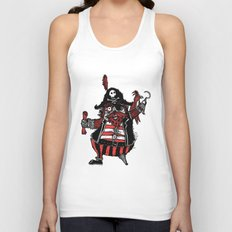 The Captain Pirate inspired by Captain Pugwash Unisex Tank Top