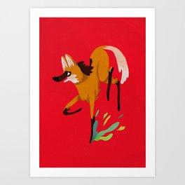 maned wolf Art Print