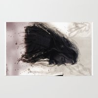 thorin Area & Throw Rugs featuring Mixed Media - Thorin by LindaMarieAnson