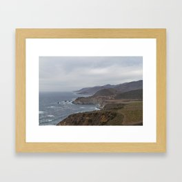 The Bixby Bridge on the California Coast Framed Art Print