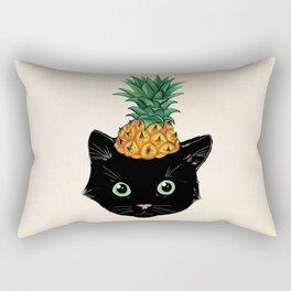 Pineapple Kitty Rectangular Pillow