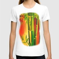 bamboo T-shirts featuring Bamboo by OLHADARCHUK