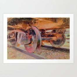 Clicky Clack on the Track Art Print