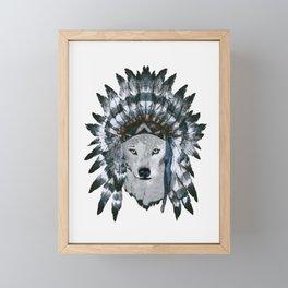 Wolf Framed Mini Art Print
