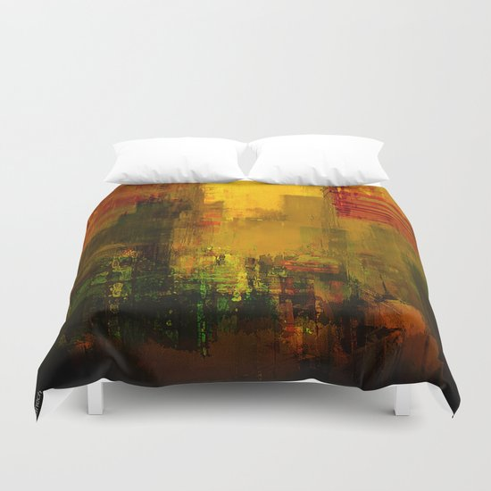Yellow City Duvet Cover