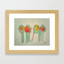 The Long Necks and Crowds Framed Art Print