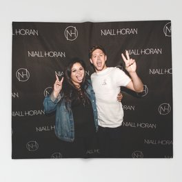 me and niall Throw Blanket