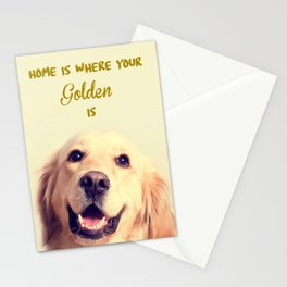 Home Is Where Your Golden Is Stationery Cards