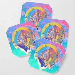 Psychedelic Clouds Coaster