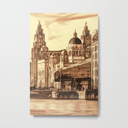 World famous Three Graces (Digital painting) Metal Print