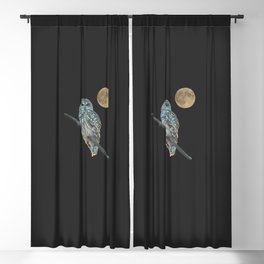 Owl, See the Moon (Barred Owl) Blackout Curtain