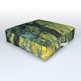 Weeping Willow by Claude Monet Outdoor Floor Cushion