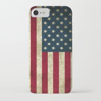 american flag iPhone & iPod Cases featuring American Flag by Nechifor Ionut