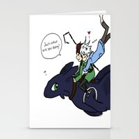 hiccup Stationery Cards featuring Hiccup, Jack, and Toothless by Gio Garcia