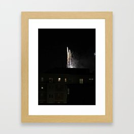 Fireworks over Boston Framed Art Print