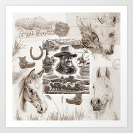 Country Western Art Print