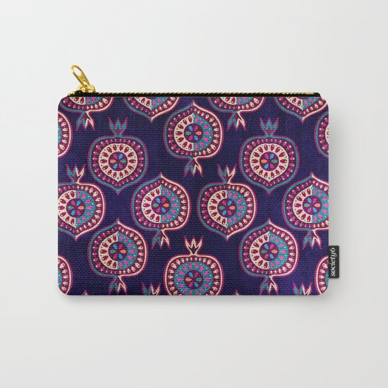 Decorative pomegranate pattern Carry-All Pouch