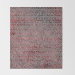 Rose Gray Velvet Foil Throw Blanket