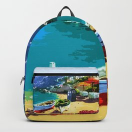 Tardis In The Beach Autumn Backpack
