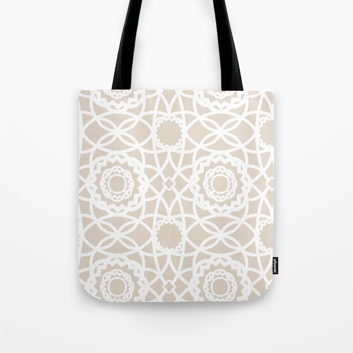 Palm Springs Macrame Lattice Lace Tote Bag
