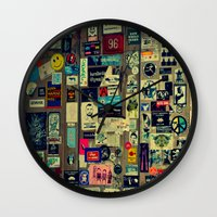 sticker Wall Clocks featuring sticker by gzm_guvenc