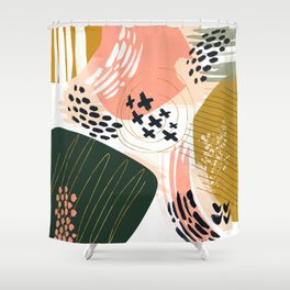 Brushstrokes abstract art III Shower Curtain