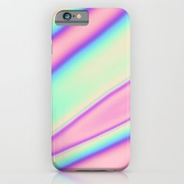 Holographic Foil Neon Pastel Colorful Pattern Abstract Marble Multi Colored Gradient iPhone Case